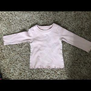 Pink Ribbed Long Sleeve Shirt
